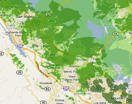 Clearwire Coverage Map on