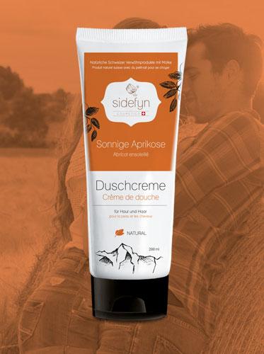 Duschcreme Sonnige Aprikose Sidefyn Cosmetics Naturkosmetik mit Molke
