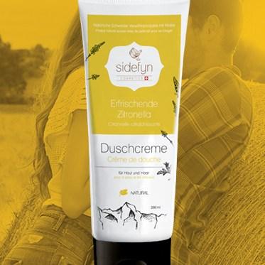 Molke-Duschcreme Erfrischende Zitronella von Sidefyn Cosmetics