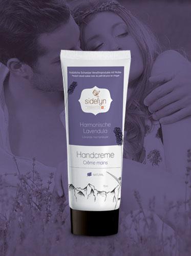Molke-Handcreme Harmonische Lavendula von Sidefyn Cosmetics