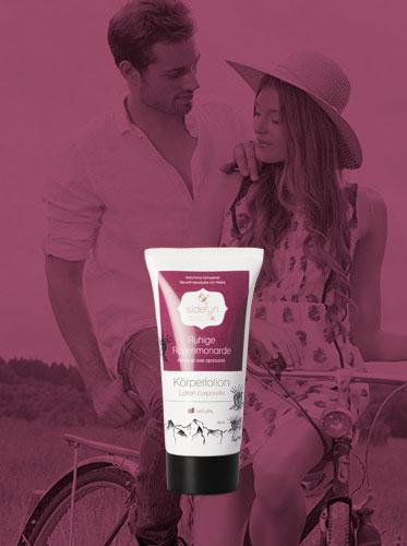 Molke-Körperlotion Ruhige Rosenmonarde von Sidefyn Cosmetics