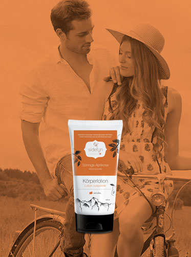 Körperlotion 30 g Sonnige Aprikose Sidefyn Cosmetics Naturkosmetik mit Molke