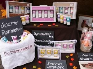Marktstand Sidefyn Cosmetics bei Marktauftritten