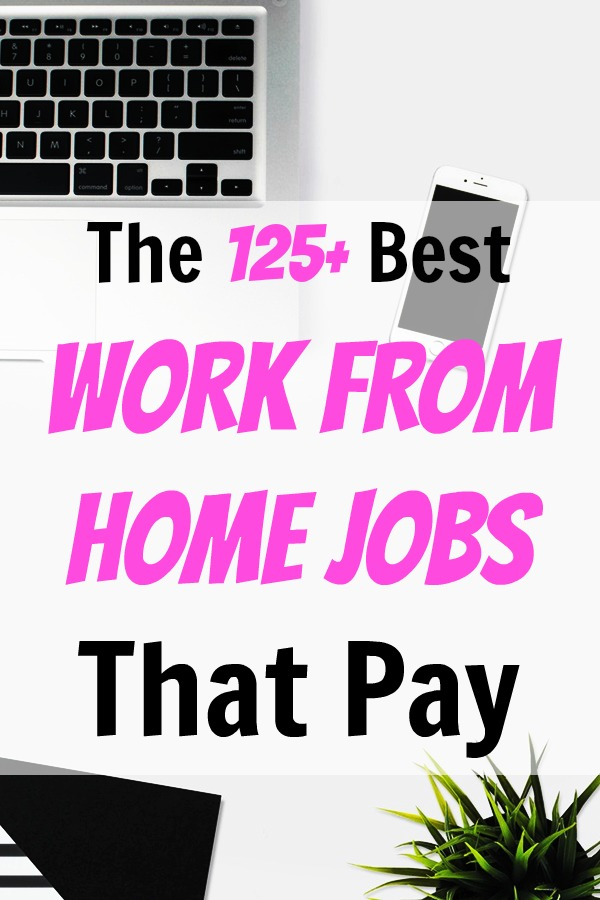 125 legit work from home jobs