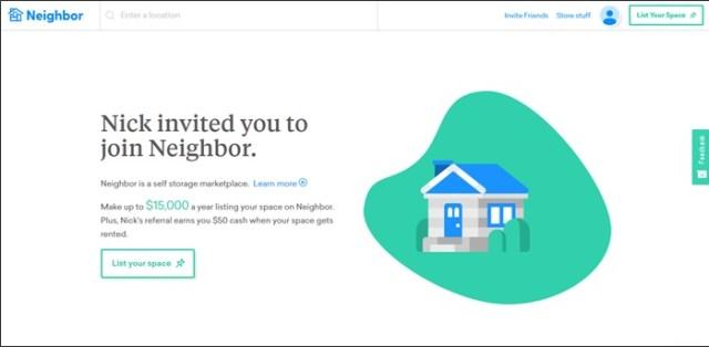 make money with neighbor self storage