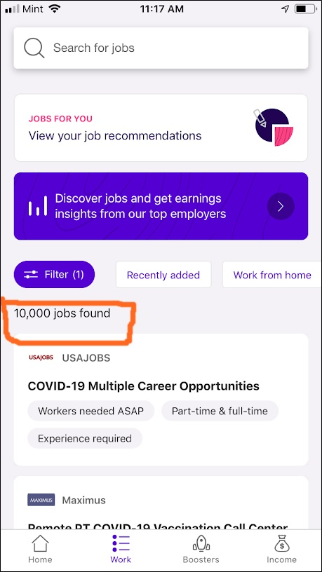 part-time and full-time jobs on steady