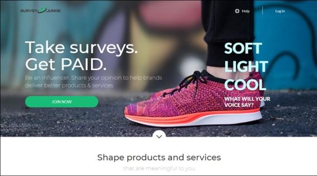 survey junkie homepage