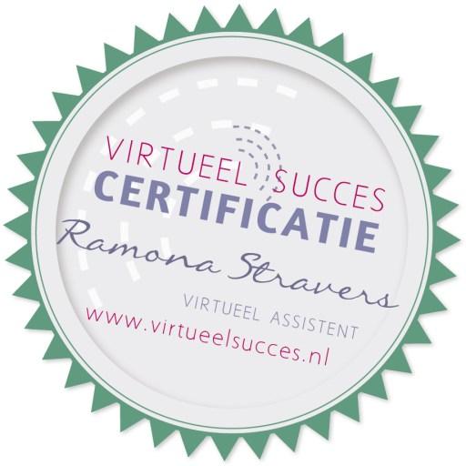 certificaat virtueel succes Ramona Stravers