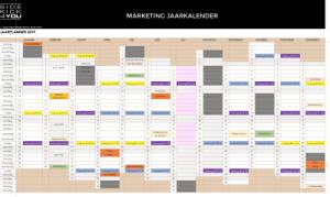 Voorbeeld marketing jaarkalender