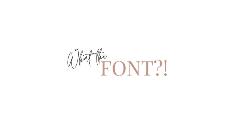 welk lettertype is dit