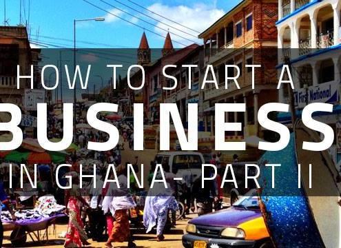 START A BUSINESS IN GHANA