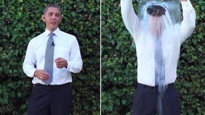 Obama ice bucket social media campaign
