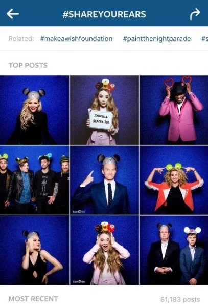 share your ears disney campaign on Instagram