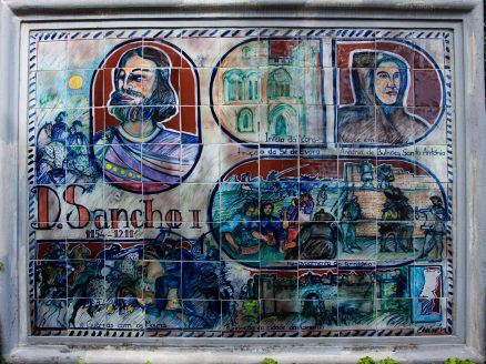 Portuguese Azulejo panel of King Dom Sancho I, second King of Portugal. Monte Tropical Garden, Funchal, Madeira