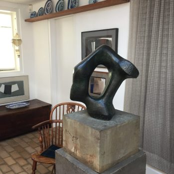 """""""Sculptural Object"""" by Henry Moore in the house. Work © The Henry Moore Foundation"""