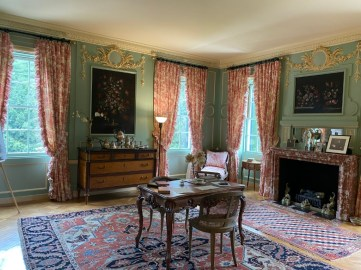 Wharton used her Boudoir for writing letters, but her creative writing was most often done in bed.
