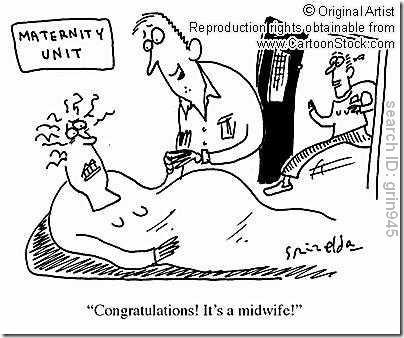 midwife cartoon