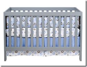 baby mod modena gray crib