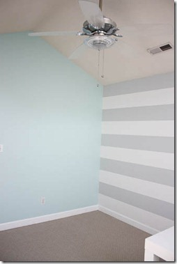 nursery paint colors blue and gray white stripes