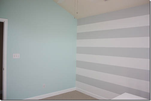 freshly painted nursery