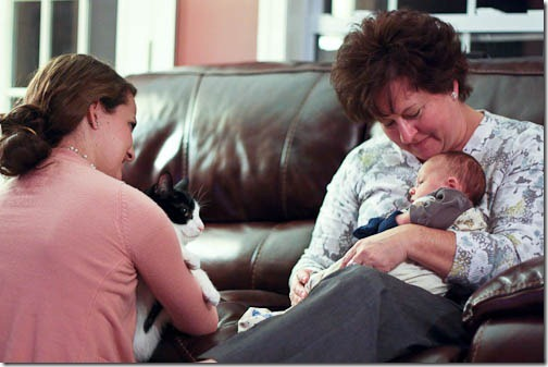 baby at grandma's house