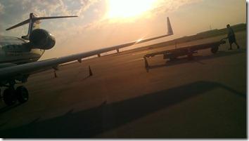taxiing on runway