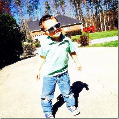cool kid three years old
