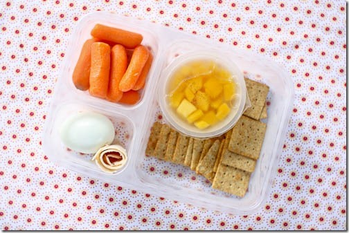 healthy school lunch snack plate