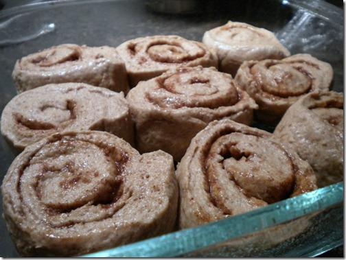 cinnamon roll slices