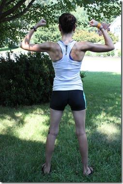 strong female athlete