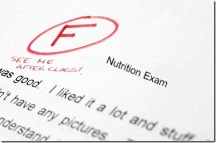 F on exam