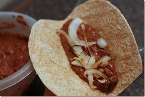 enchilada making