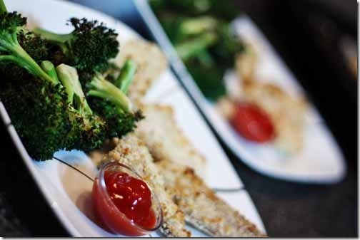 fish sticks and broccoli