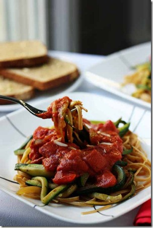 easy whole grain pasta dinner