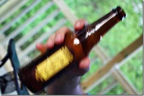 swirl beer bottle