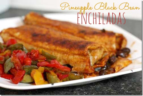 pineapple black bean enchiladas recipe