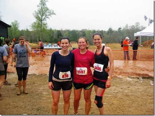 soaking wet after mud run