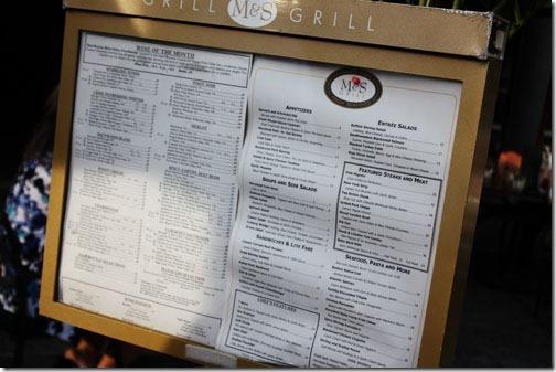 m&s grill menu