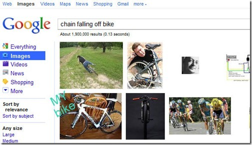 chain falling off bike fear
