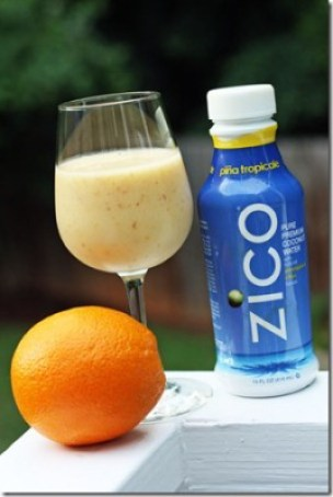 tropical smoothie with coconut water