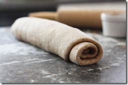 rolling cinnamon dough