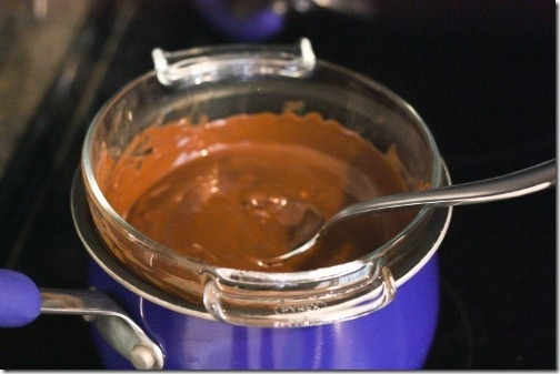 melt chocolate with double boiler