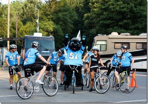 sir purr and panthers bike team