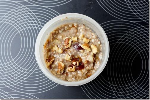 banana walnut oats