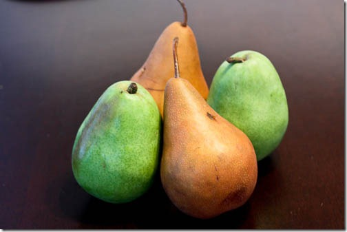 types of pears