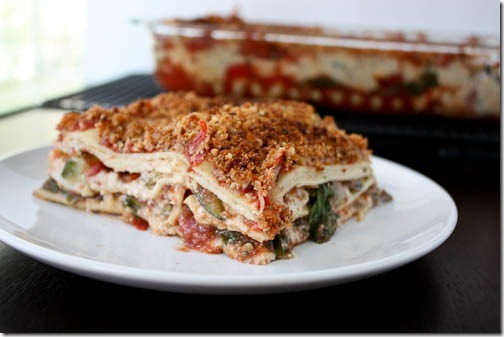 vegan vegetable lasagna