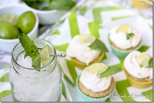 mojitos and mojito cupcakes