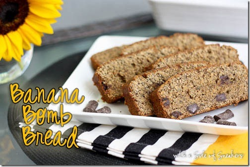Banana Bomb Bread chocolate chip gluten free recipe