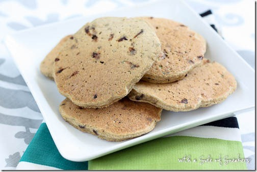 chocolate chip zucchini pancakes