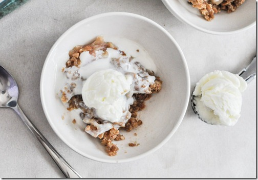 white peach crisp recipe